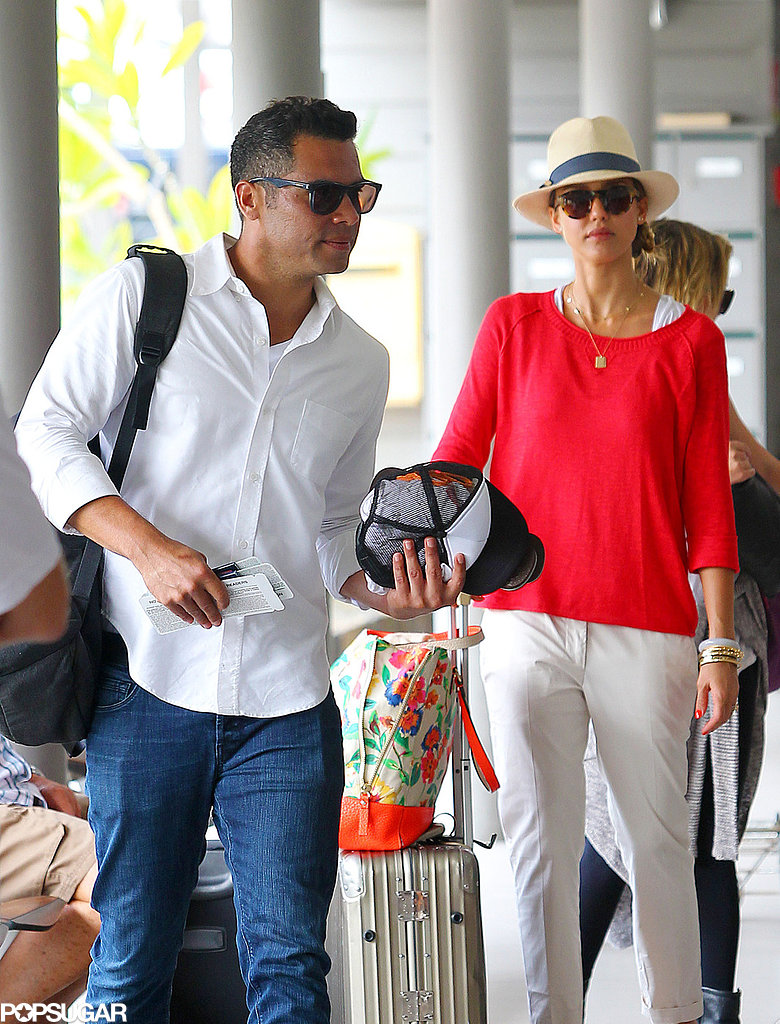 Jessica Alba and Nicole Richie Depart St. Barts in Style