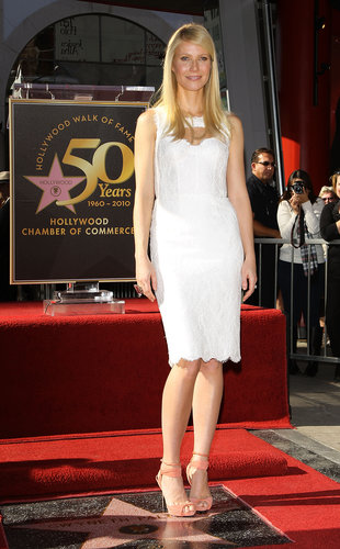 The blond stunner wowed in a lovely lace Monique Lhuillier sheath and peachy Pierre Hardy sandals at her Hollywood Walk of Fame ceremony in LA.