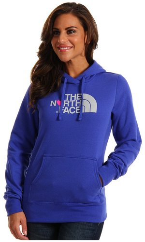 The North Face - Women's Logo Love Pullover Hoodie (Moody Blue/High Rise Grey) - Apparel