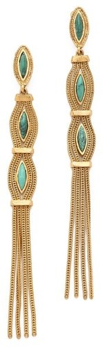 Aurelie bidermann Sunset Clip On Earrings with Turquoise