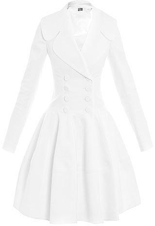 Azzedine Alaïa Structured full-skirt coat