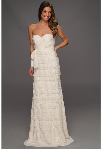 Badgley Mischka - Strapless Lace Gown (Ivory) - Apparel