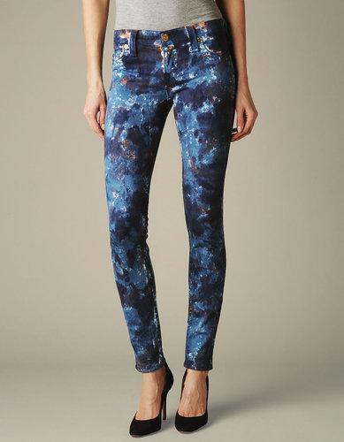 Womens Halle Cosmo Print Jean - (groovy Tie Dye Royal Blue)