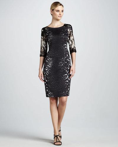 T Tahari Melika Mixed-Print Dress