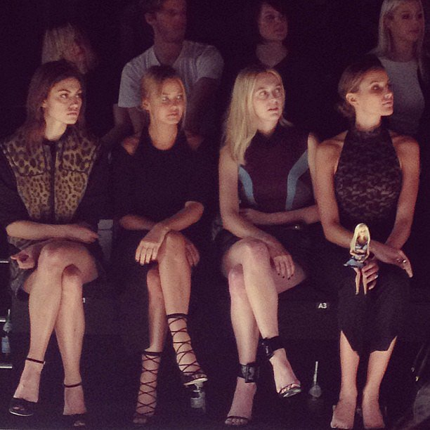 Phoebe Tonkin, Lara Bingle, Gracie Otto and Rachael Finch take in Camilla and Marc. Source: Instagram user fabsugar_australia