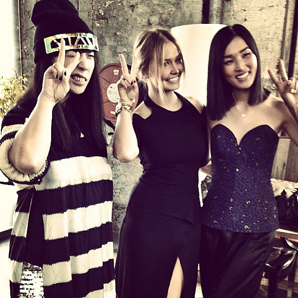 International blogger Susie Bubble hung out with Lara Bingle and Gary Pepper Vintage's Nicole Warne. Source: Instagram user mslbingle
