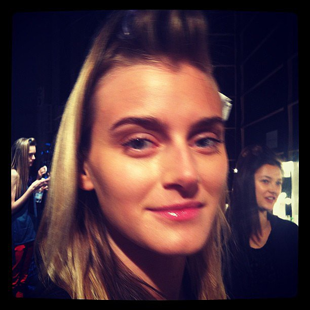 Hair at Camilla and Marc was styled by KMS — here's a behind-the-scenes shot of the look! Source: Instagram user bdaustralia