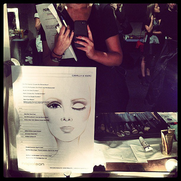 The face chart that was used as a guide for Camilla and Marc's makeup look. Source: Instagram user bellasugar_australia
