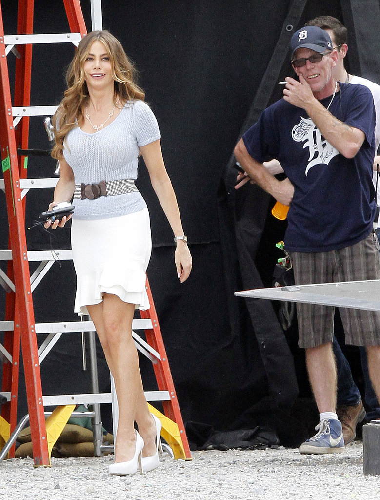 Sofia Vergara sported white pumps in New Orleans.