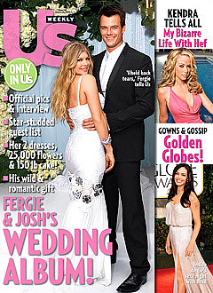 Fergie and Josh Duhamel were married in January 2009 in a ceremony in LA.