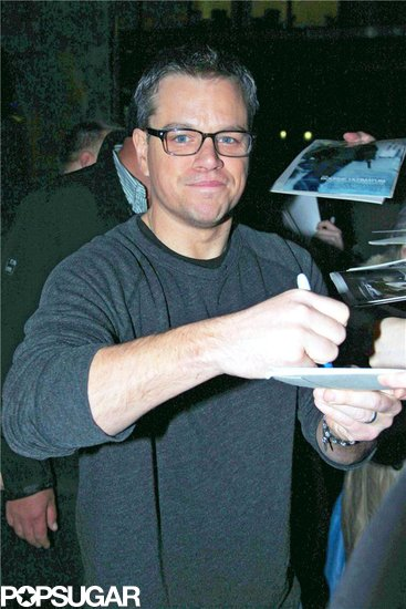 Matt Damon signed autographs.