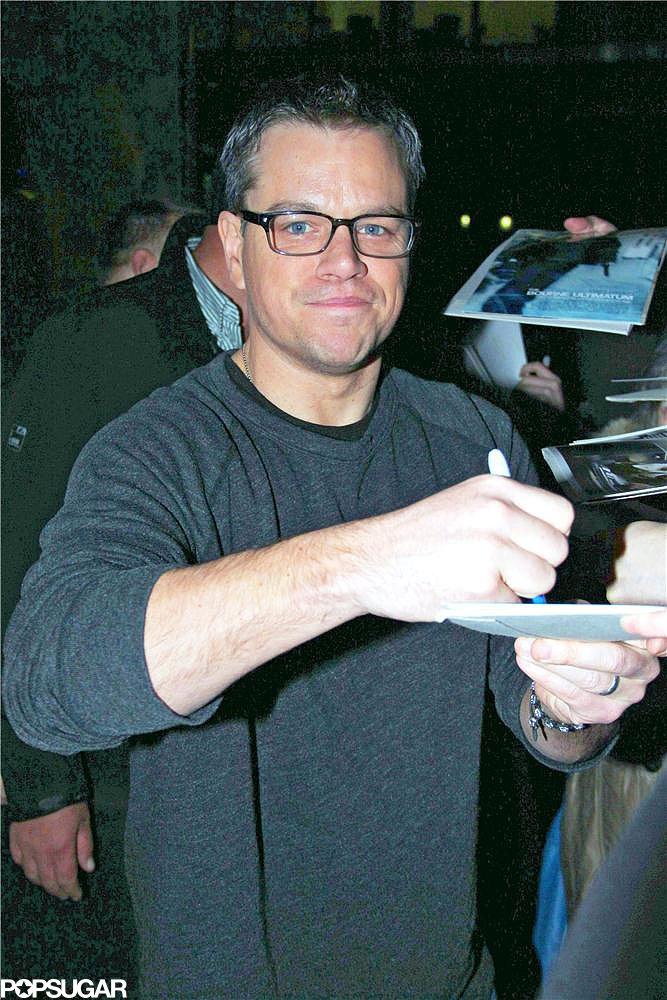 Matt Damon signed autographs.