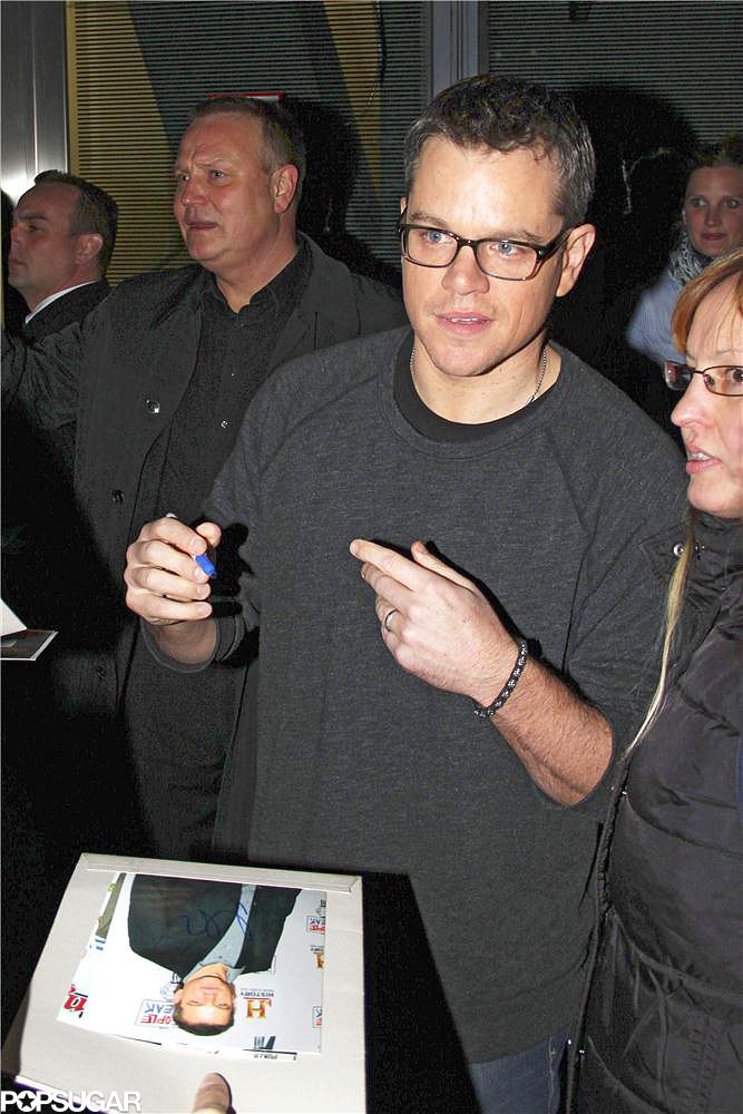 Matt Damon screened clips from his new film Elysium in Berlin.