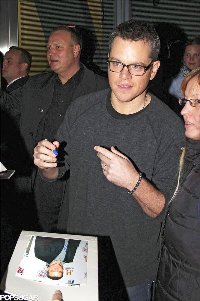 Matt Damon screened clips from his new film Elysium in Berlin.