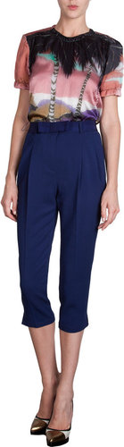 Lanvin Bow Belt Cropped Pants