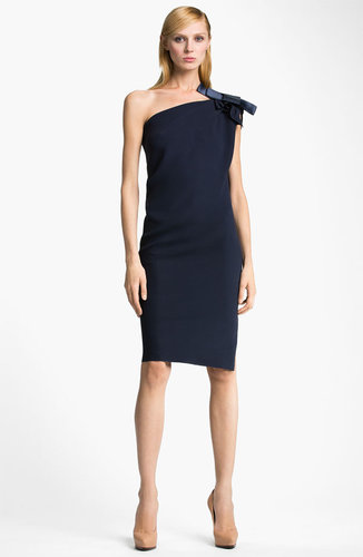 Lanvin Bow Detail Draped Dress
