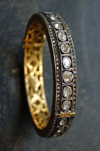 Rona Pfeiffer Rose And Pave Diamond Bangle*