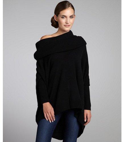 Autumn Cashmere black cashmere oversized cowl neck sweater