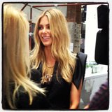 Jennifer Hawkins hit fashion week to support friend Jayson Brundson. Source: Twitter user melissahoyer