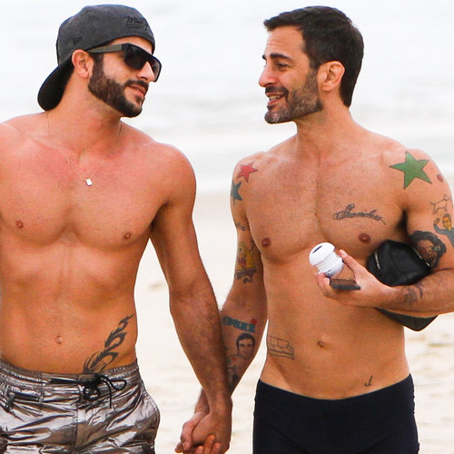Marc Jacobs and Boyfriend Shirtless on Beach | Pictures