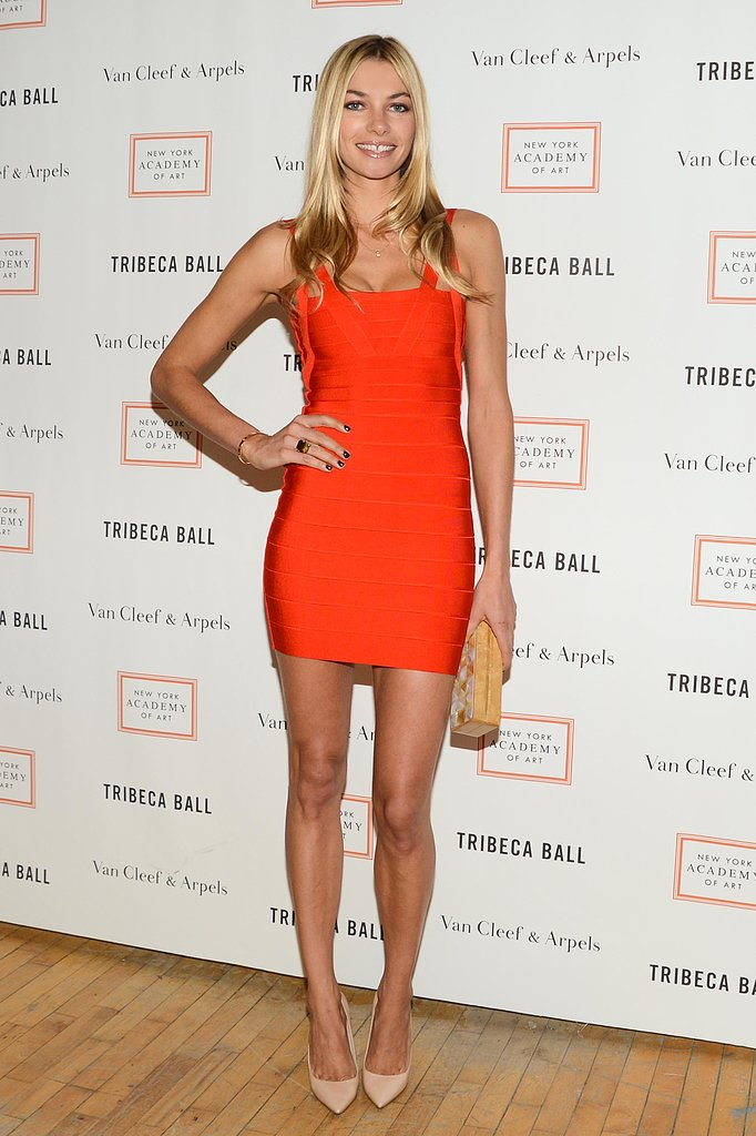 Jessica Hart at New York Academy of Art's Tribeca Ball in New York. Photo: Billy Farrell/BFAnyc.com