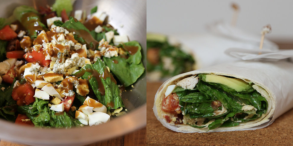 No Forks Required For This Cobb Salad Wrap