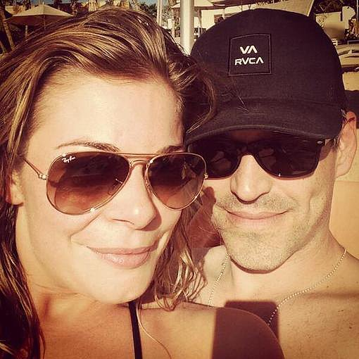 LeAnn Rimes and Eddie Cibrian kept close during a trip to Puerto Rico. Source: Twitter user leannrimes