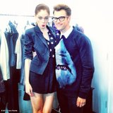 Brad Goreski posed with Coco Rocha on the set of his Bravo reality show. Source: Coco Rocha on WhoSay