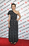 Maggie Gyllenhaal wore a printed frock.