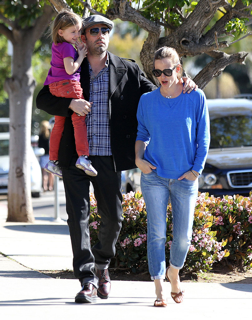 "Ben Steps Out With Jen and Seraphina as He Gears Up For ""Mr. Mom"" Role"