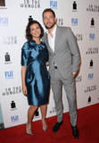 Morena Baccarin met up with Zachary Levi.