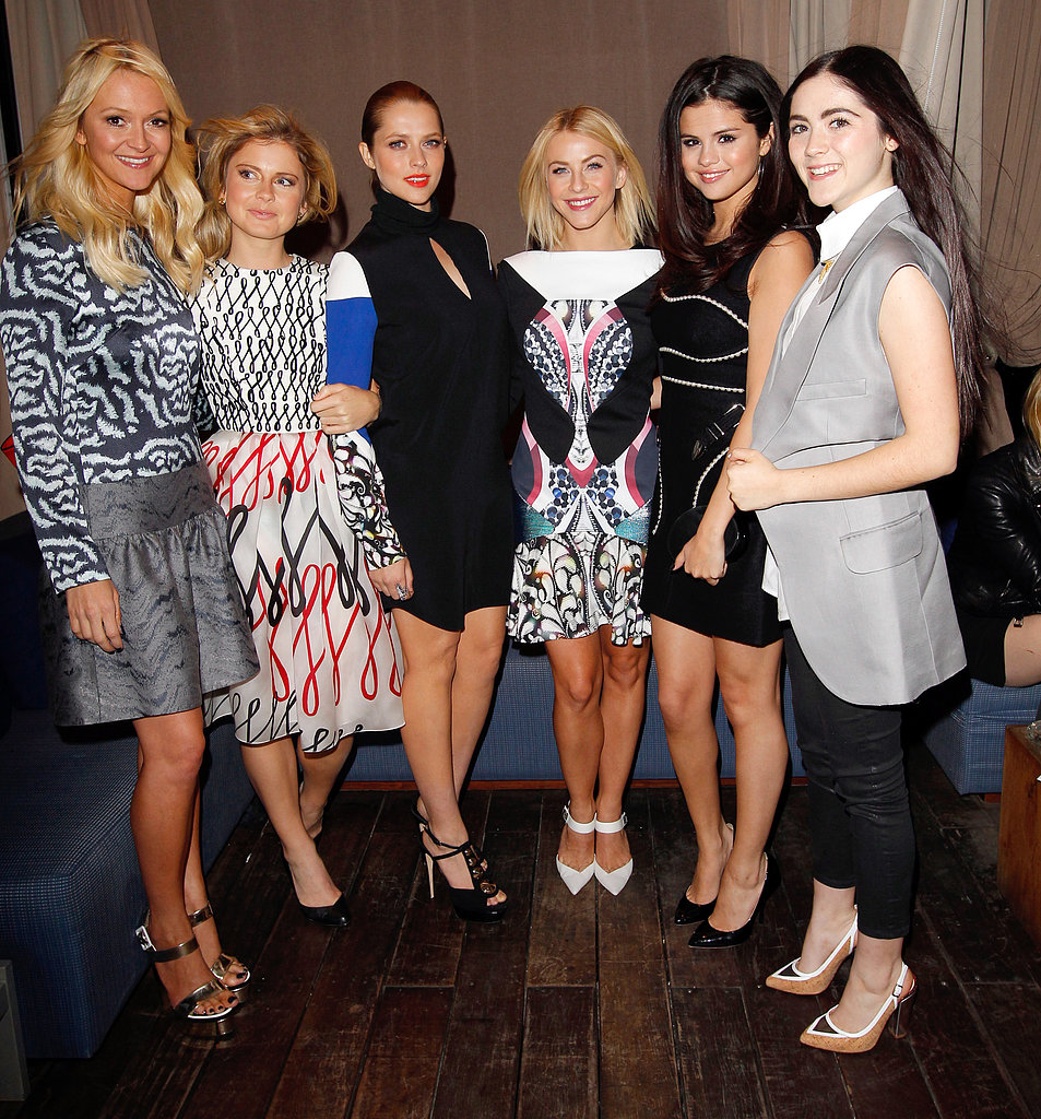 Selena Gomez and Julianne Hough got together with other fashionable friends at the London Show Rooms event in LA.