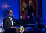 Barack Obama hosted the concert.