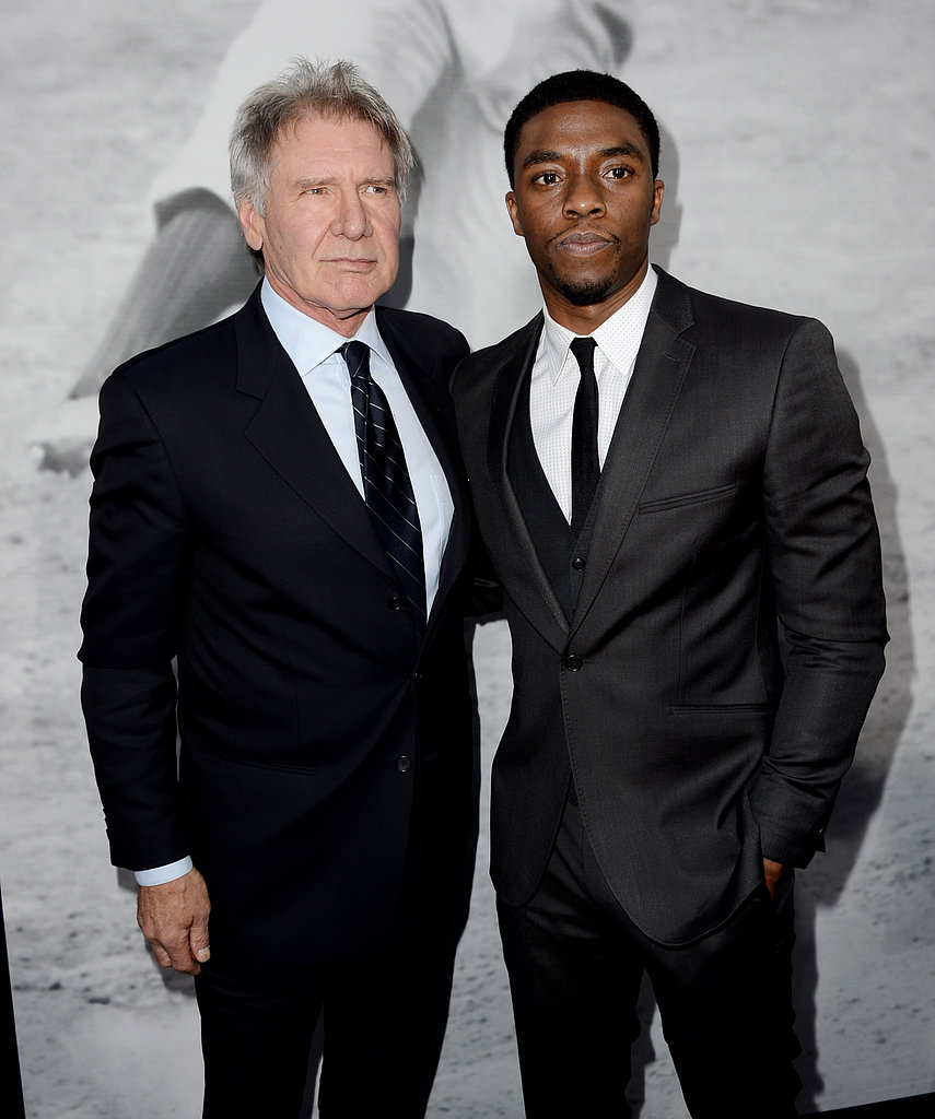 Harrison Ford Debuts 42 With Calista and His Cast in LA