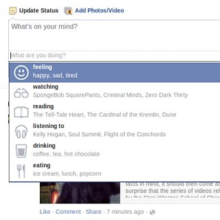 Facebook Status Emoticons