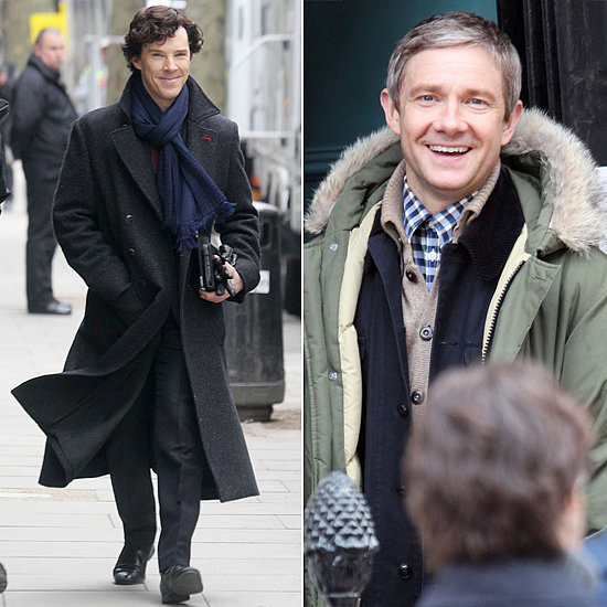 Benedict and Martin Return to Set on Sherlock Season 3