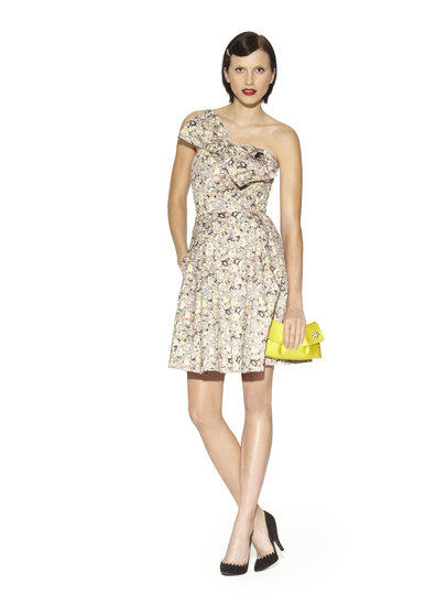 We can't wait to get our hands on more than a few pieces from the Kate Young for Target collection, and this bow-tie strapless cocktail dress would do just fine at a rehearsal dinner. Style it with a pair of classic gold earrings and low heels for a refined finish. Reminder: the collection debuts in stores and online on April 14!