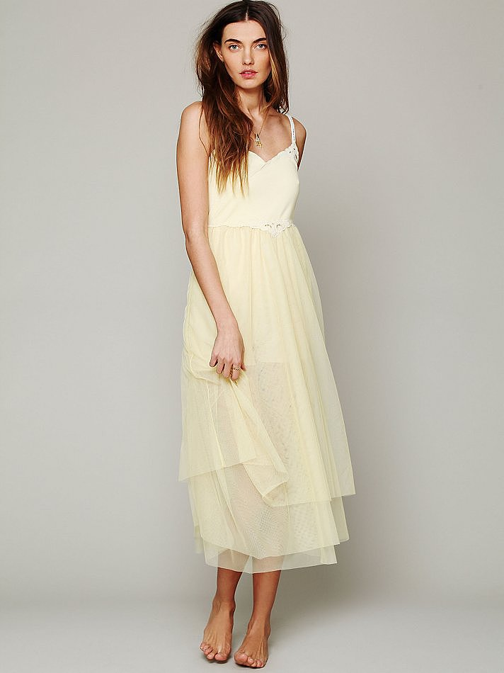 This Free People Painted Lady Maxi Slip ($148) comes in eggshell yellow and black, and while on the relaxes side, it's undeniably feminine and sweet. Pair it with a longer pendant necklace, a swept-back bun, and sleek ankle-strap sandals, and you're ready for entertaining.