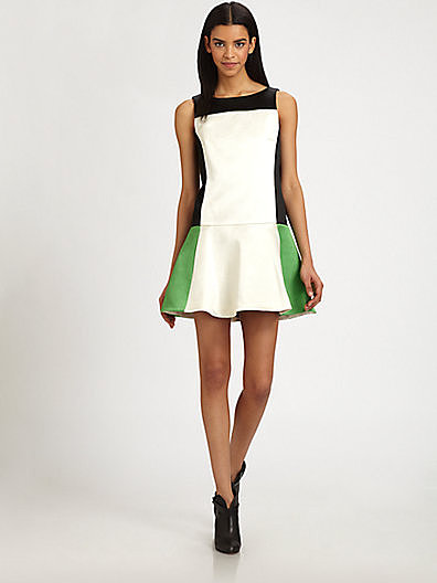 Equal parts sweet and sporty, this Rag & Bone Sofia colorblocked dress ($550) could easily become a wardrobe staple.