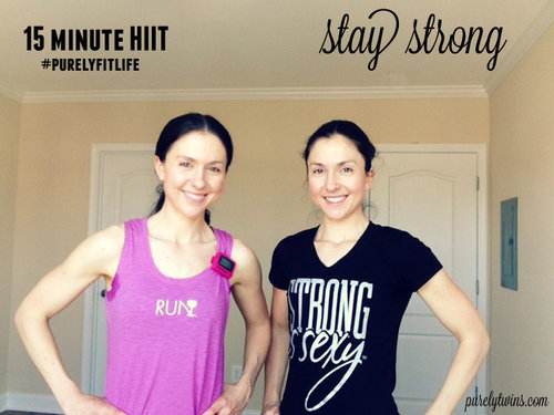 15 minute HIIT at home workout