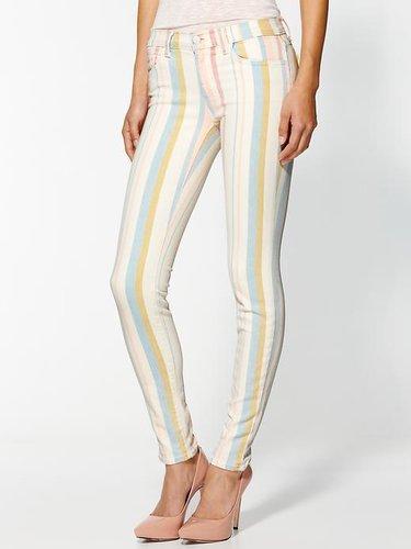 J Brand Low Rise Candy Stripe Jeans