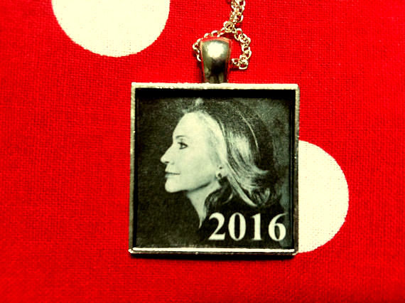 Hillary Clinton 2016 necklace ($15)