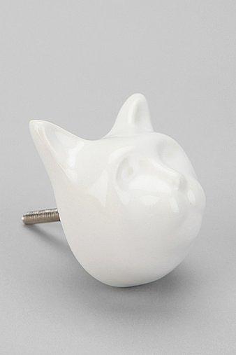 Ceramic Cat Knob ($6)