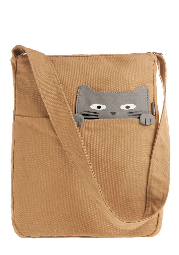 Look What the Cat Bag-ged In Tote ($40)