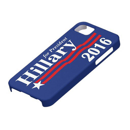 Hillary Clinton For President 2016 iPhone 5 case ($40)