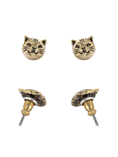 Gold-Plated Cat Earrings ($18)