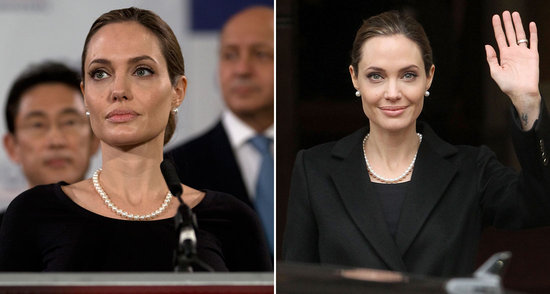 Video: Angelina Jolie Goes Ladylike to Speak in London and More