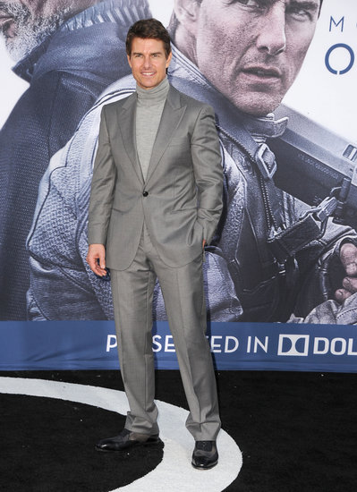 Tom Cruise was outside the Oblivion premiere in Hollywood.