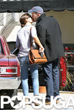 Ben Affleck and Jennifer Garner shared a kiss.