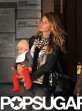 Gisele Bündchen carried baby Vivian for an NYC outing.